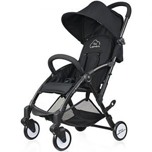 Tiny Wonders Black Baby Stroller